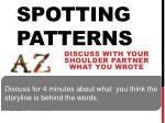 spotting patterns1