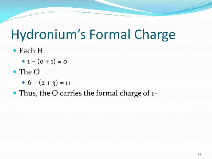 Hydronium's Formal Charge