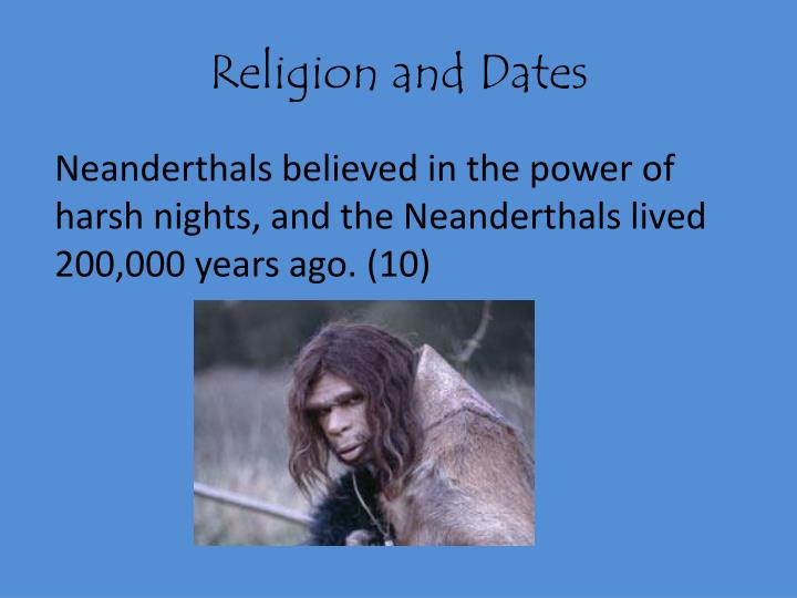 Religion and Dates