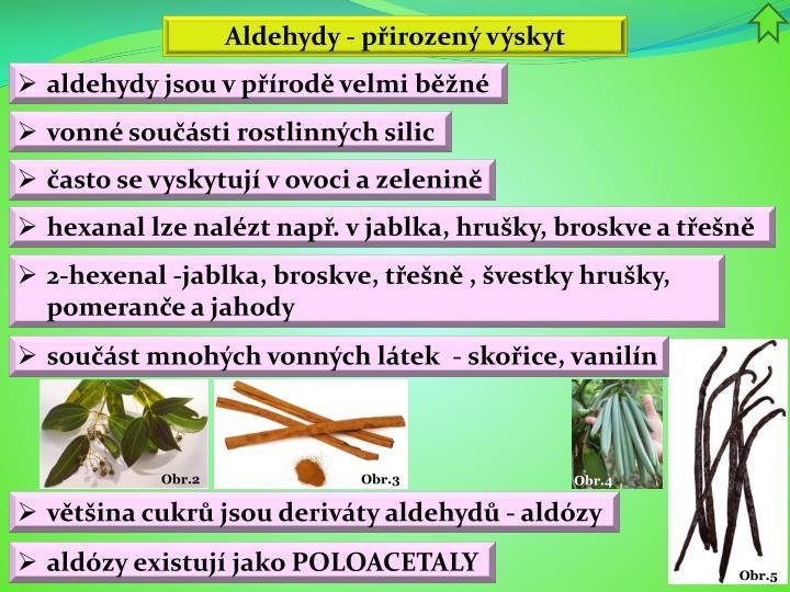 Aldehydy - přirozený