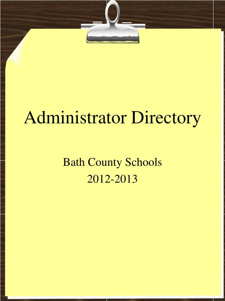 Administrator directory