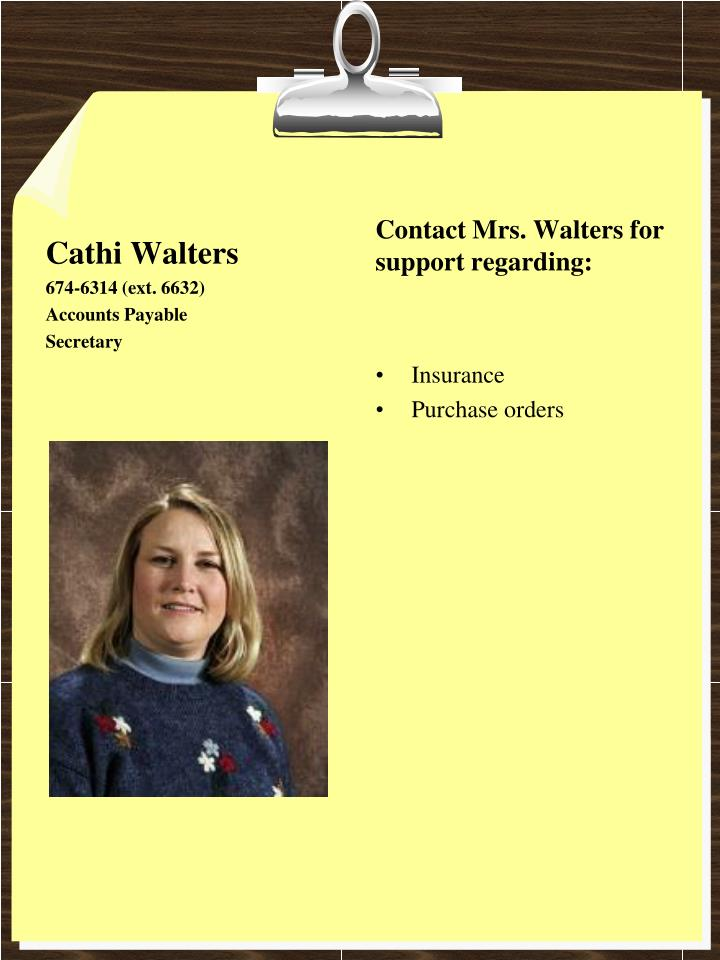 Cathi Walters