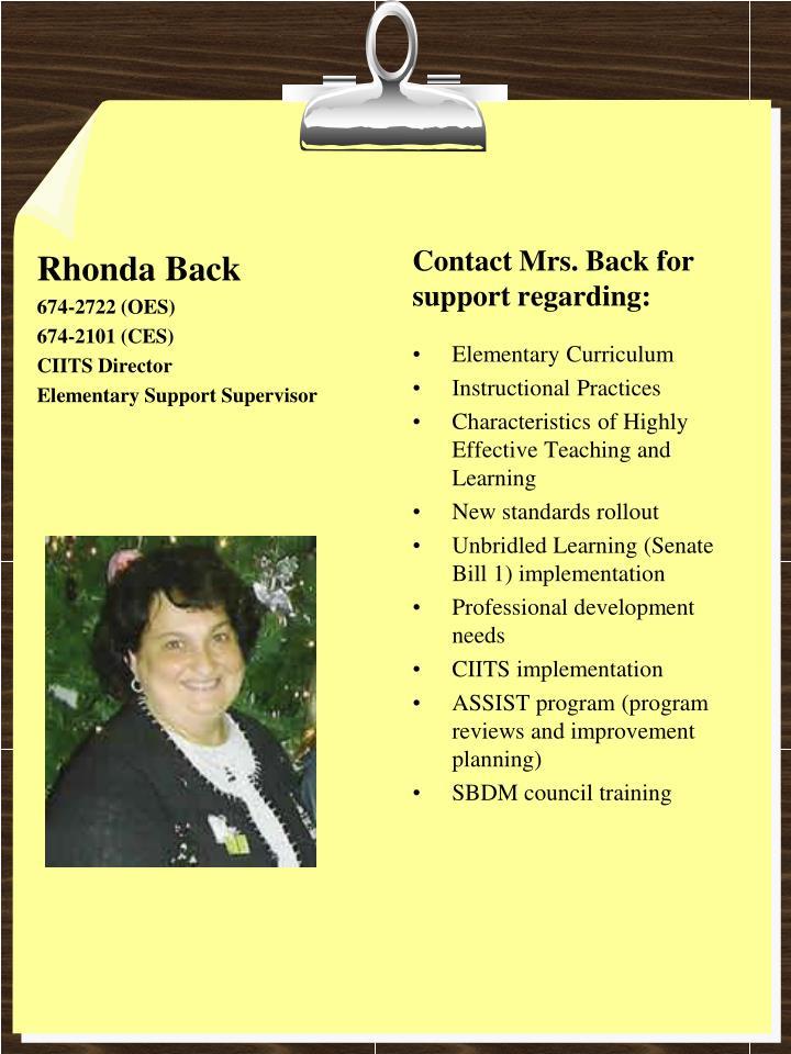Rhonda Back