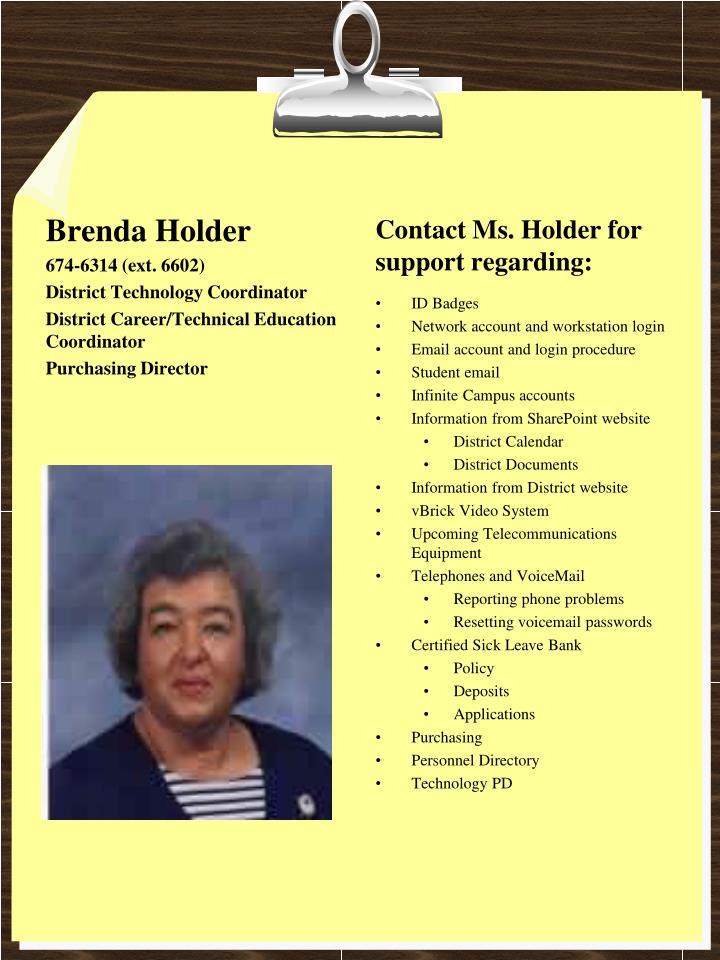 Brenda Holder