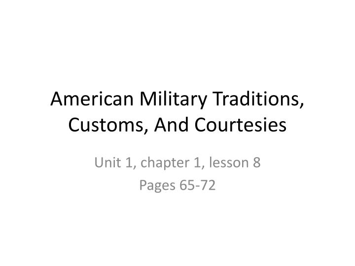 Customs and courtesies essay