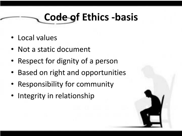 Code of Ethics -basis
