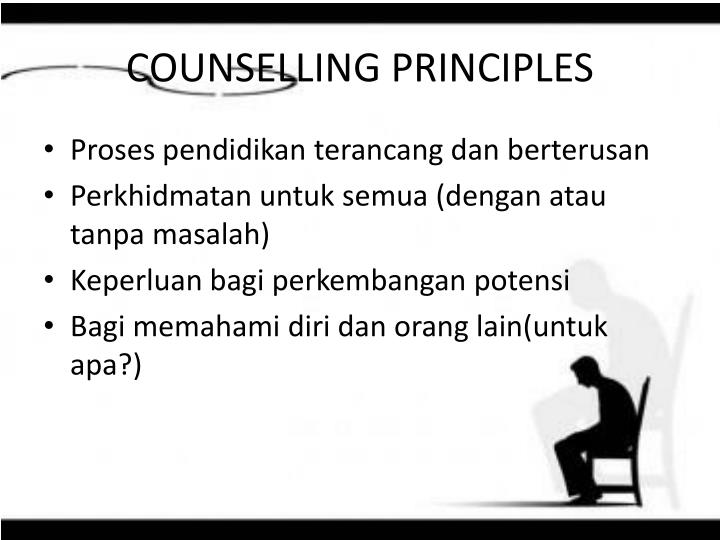 COUNSELLING PRINCIPLES