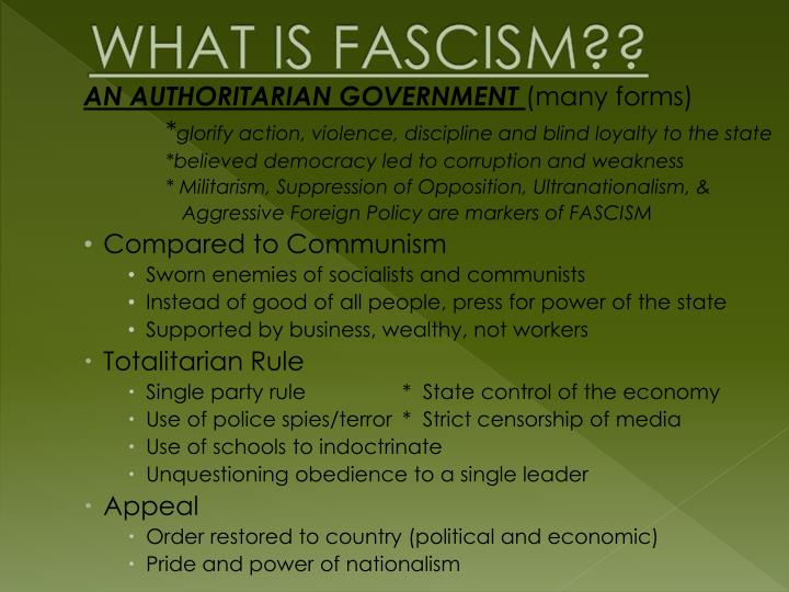 WHAT IS FASCISM??