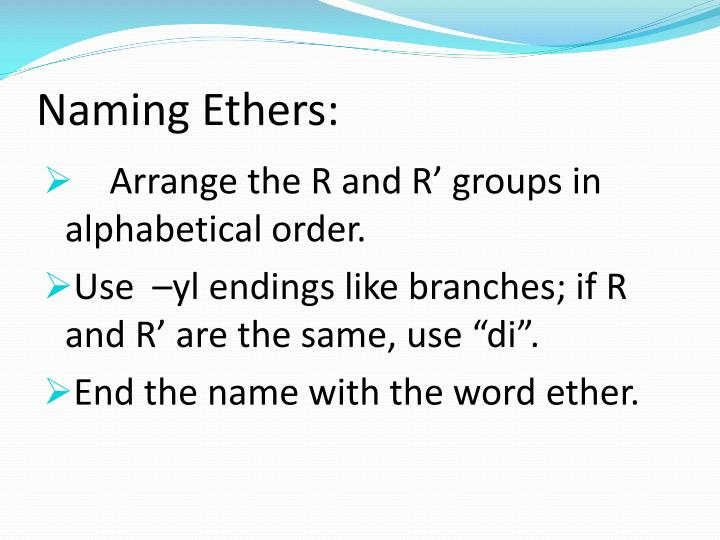 Naming Ethers: