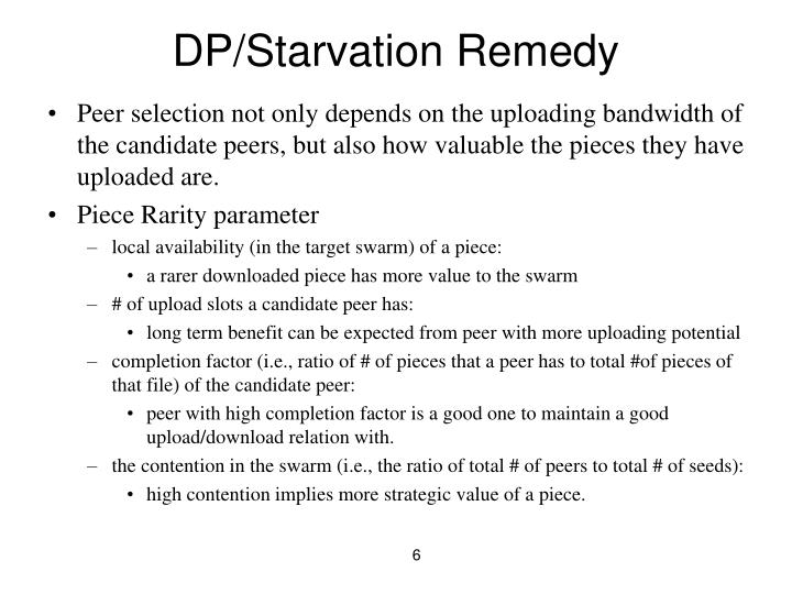 DP/Starvation Remedy