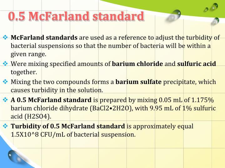 0.5 McFarland standard