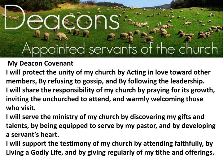My Deacon Covenant