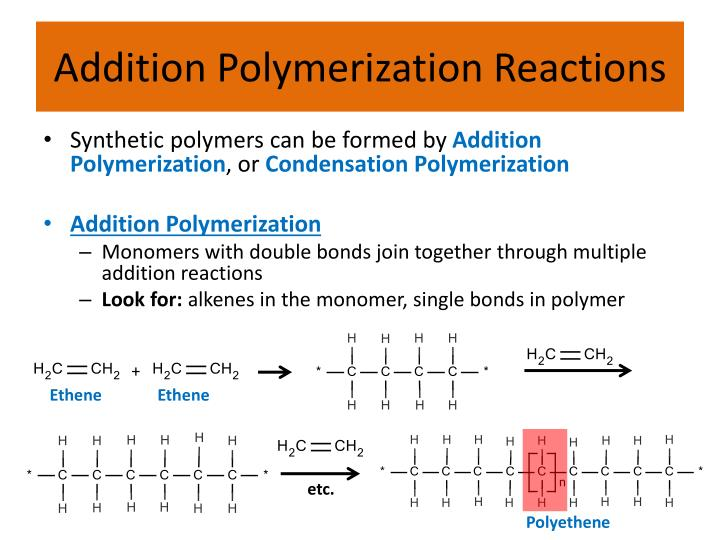 Addition Polymerization Reactions