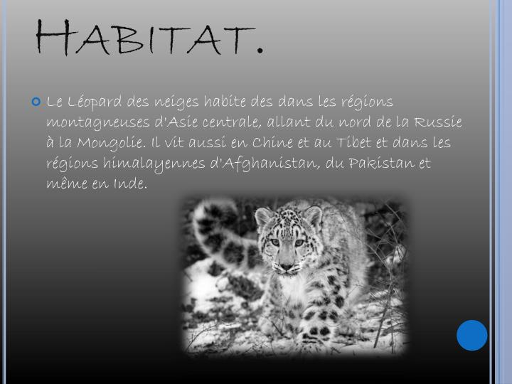 Habitat.