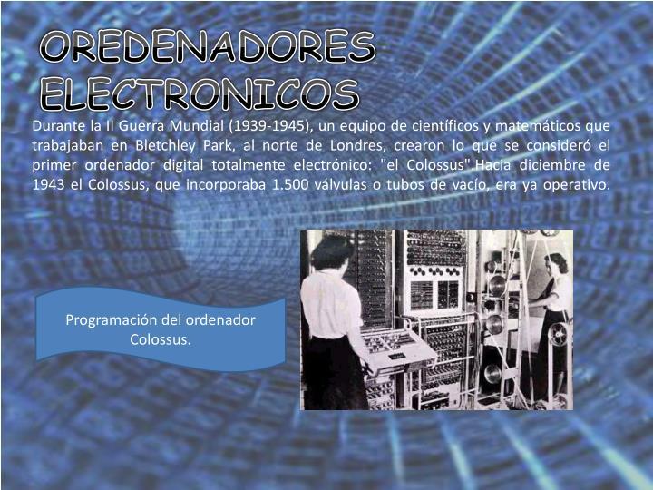 OREDENADORES ELECTRONICOS