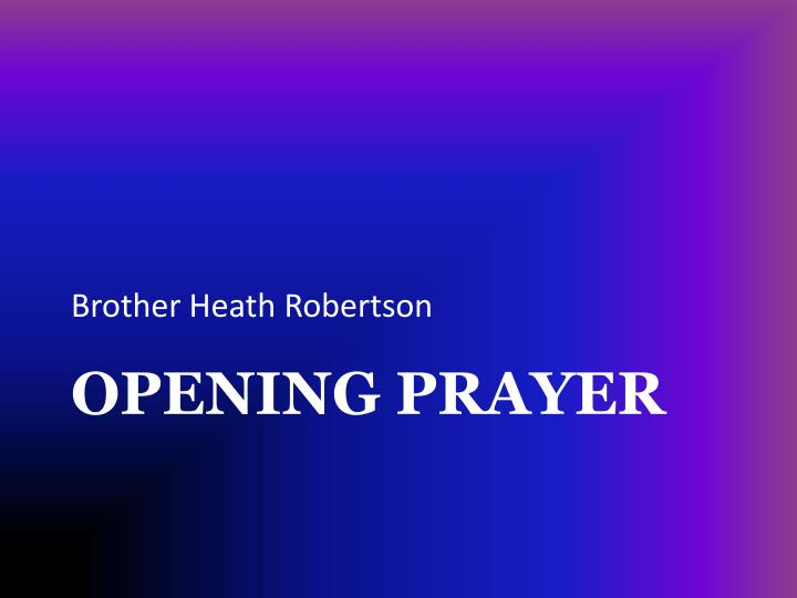 Brother Heath Robertson