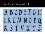 escrita romana s c ii