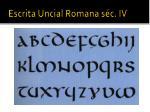 escrita uncial romana s c iv