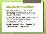 leadership enlistment