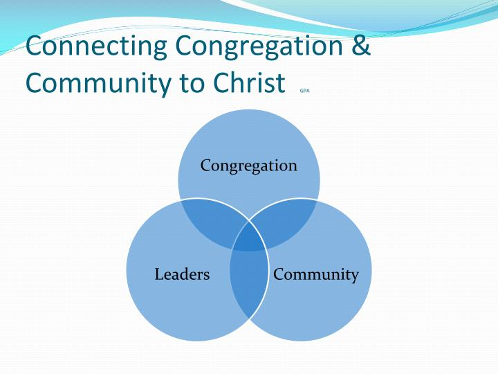 Connecting Congregation & Community to Christ