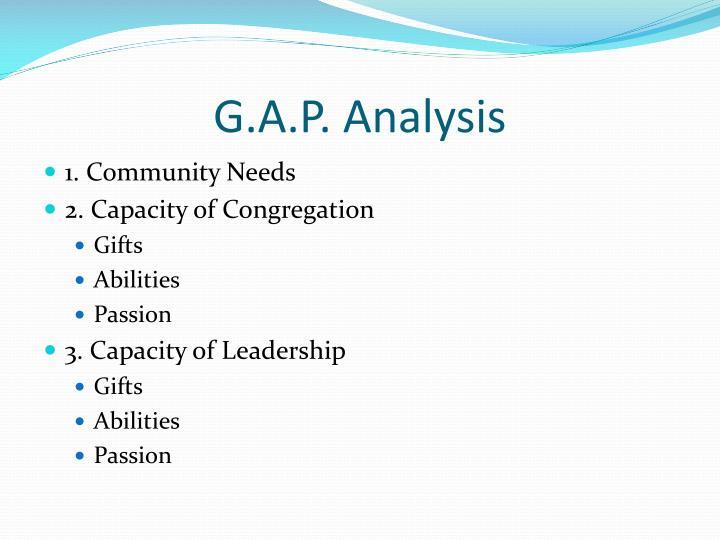 G.A.P. Analysis