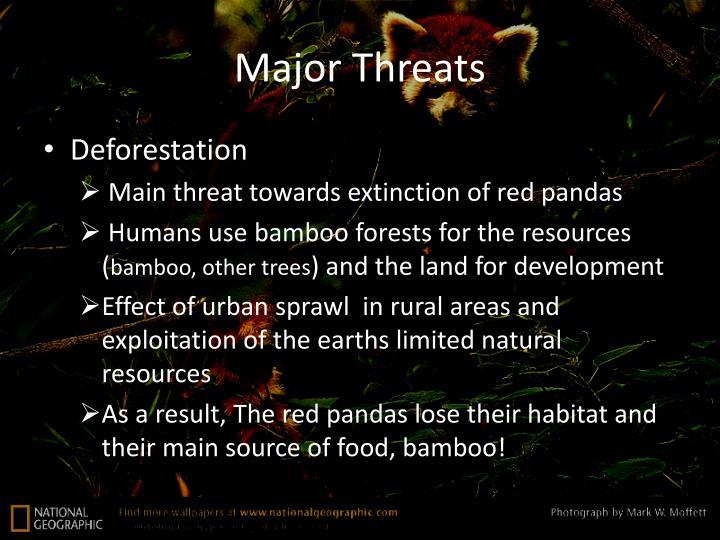 Major Threats