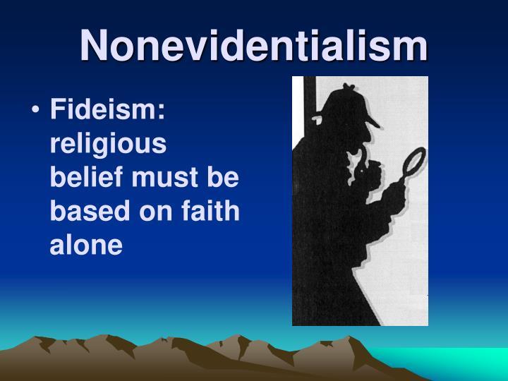 Nonevidentialism