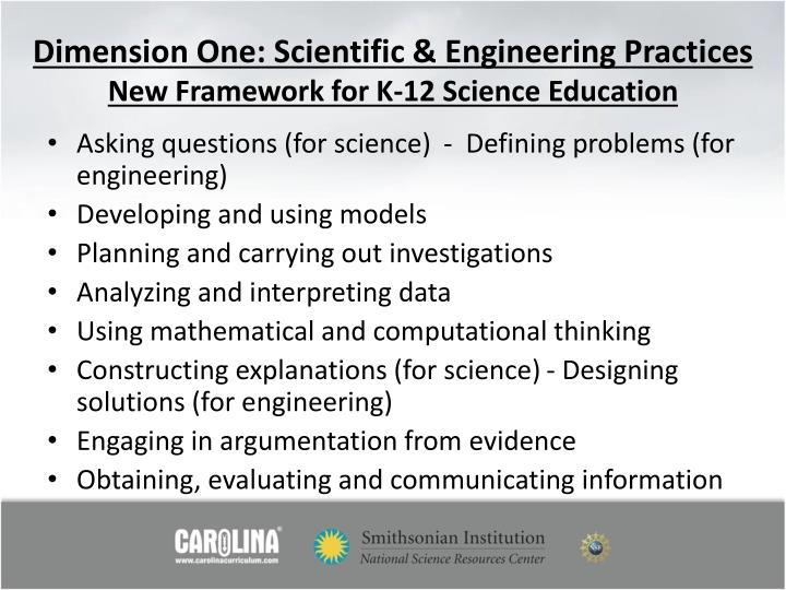 Dimension One: Scientific & Engineering Practices