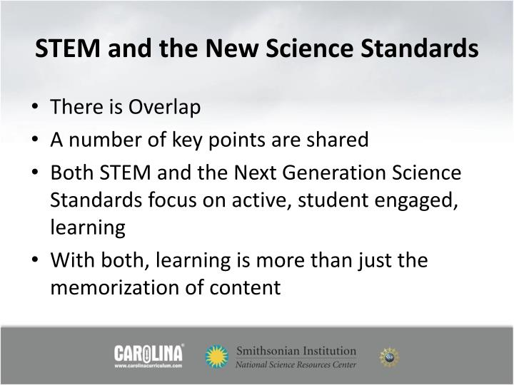 STEM and the New Science Standards