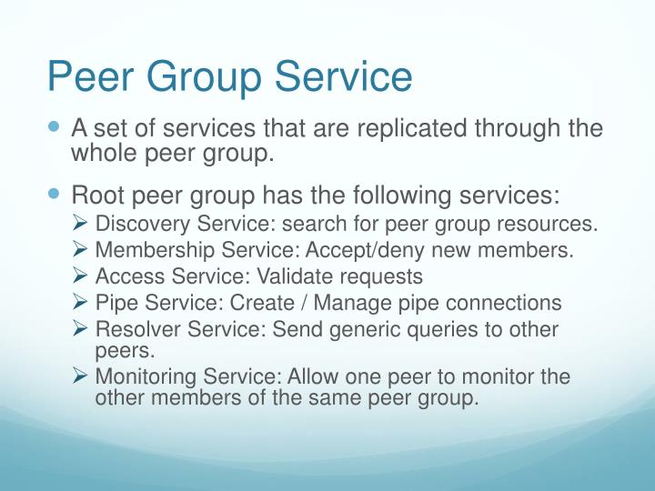 Peer Group Service