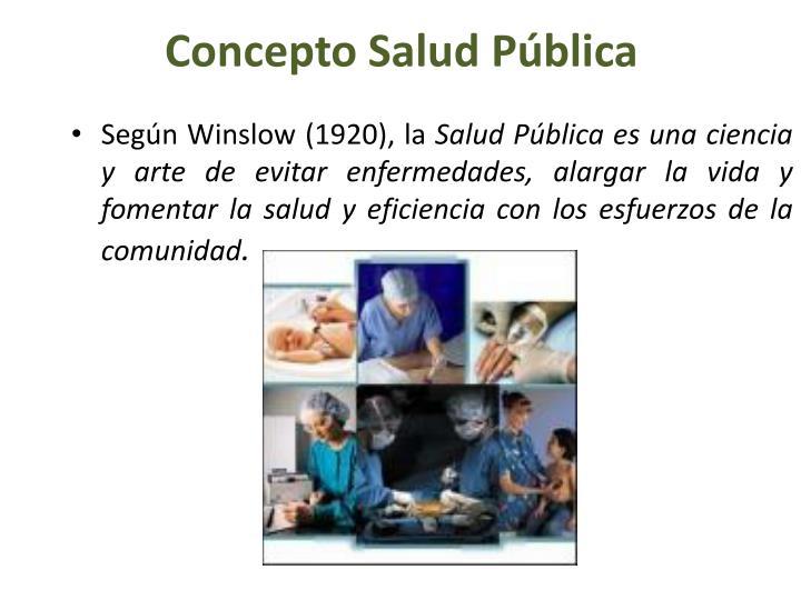 Concepto Salud Pública