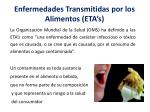 enfermedades transmitidas por los alimentos eta s