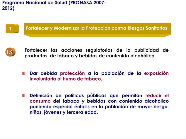 Programa Nacional de Salud (PRONASA 2007-2012)