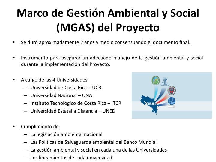 Marco de Gestión Ambiental y Social (MGAS) del Proyecto