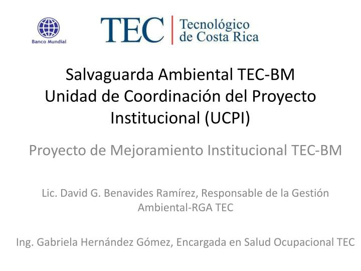 Salvaguarda Ambiental TEC-BM