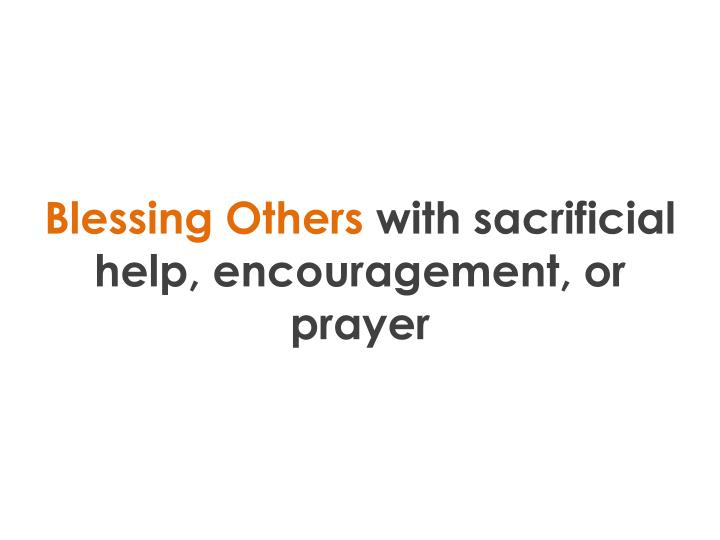 Blessing Others