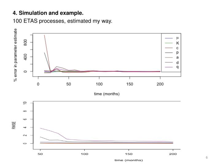 4. Simulation and example.
