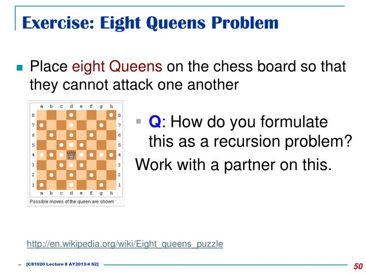 Exercise: Eight Queens Problem