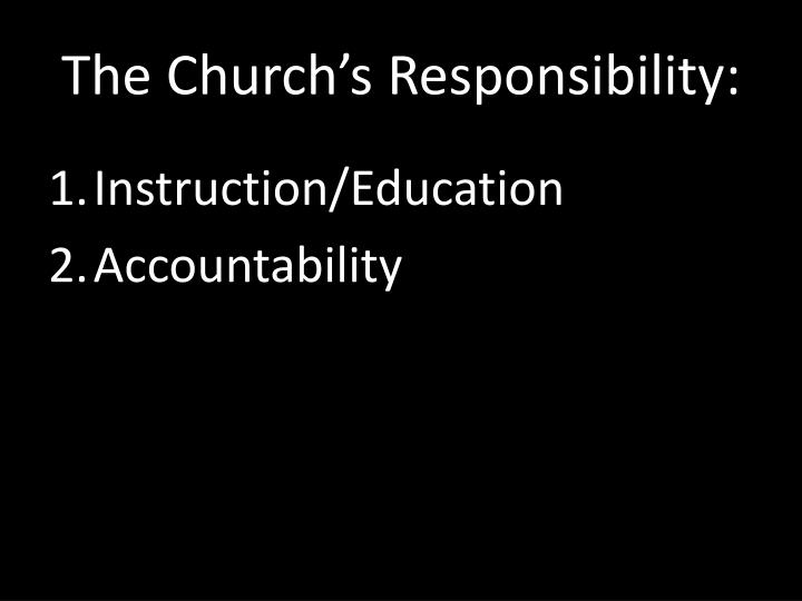 The church s responsibility