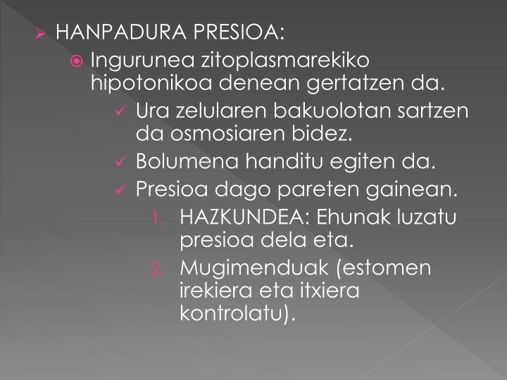HANPADURA PRESIOA: