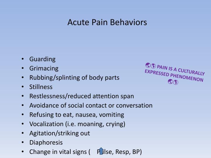 Acute Pain Behaviors