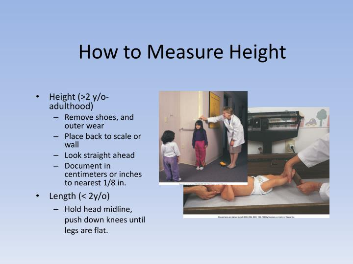 How to Measure Height