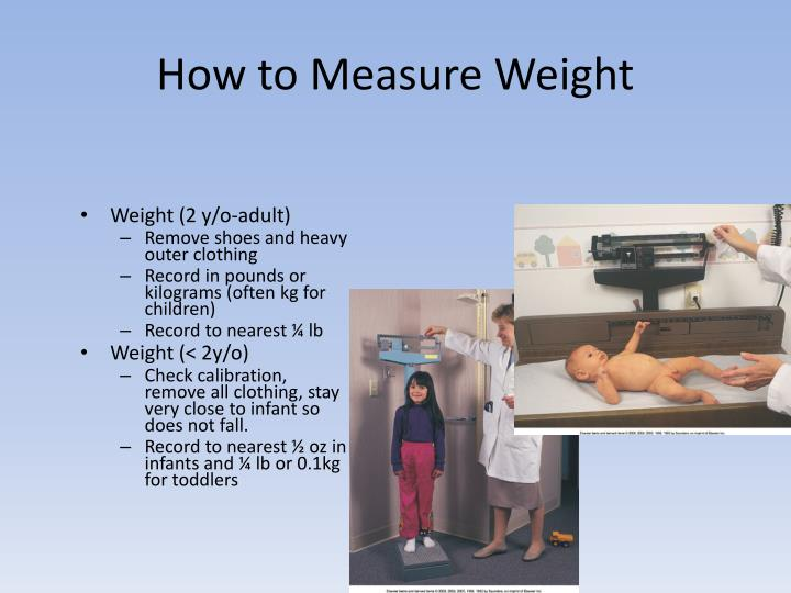 How to Measure Weight