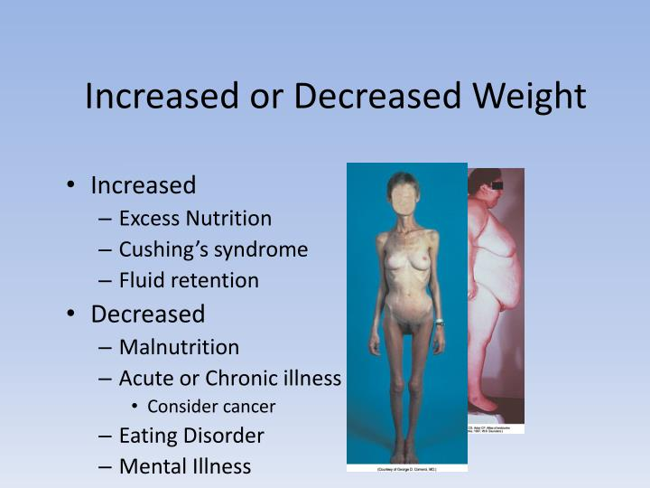 Increased or Decreased Weight