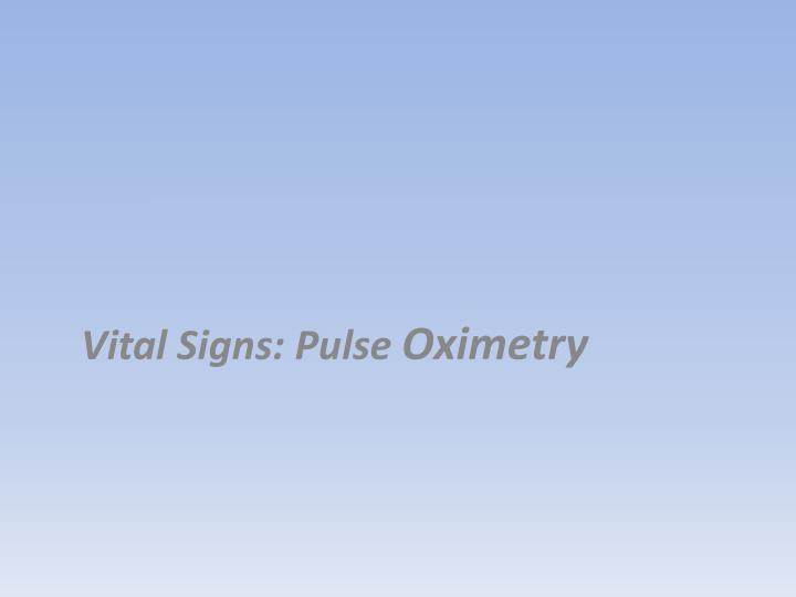 Vital Signs: Pulse