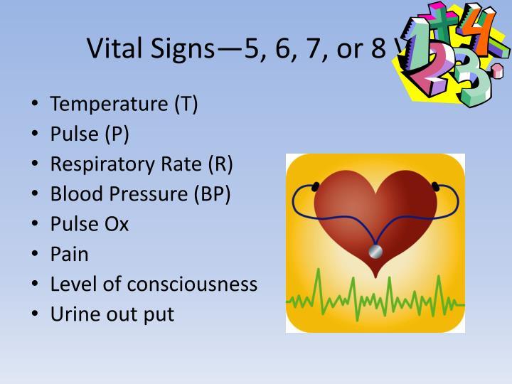 Vital Signs—5, 6, 7, or 8 VS