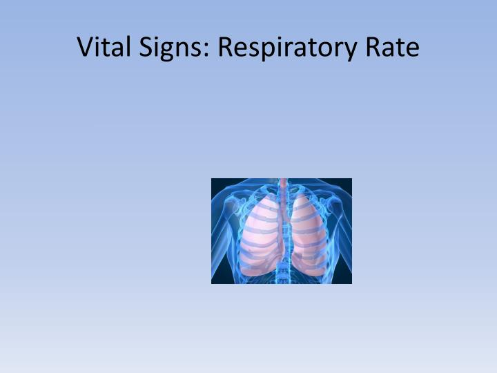 Vital Signs: Respiratory Rate