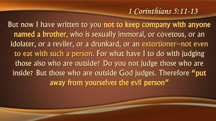 1 Corinthians 5:11-13