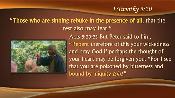 1 Timothy 5:20