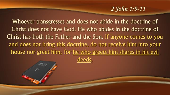 2 John 1:9-11